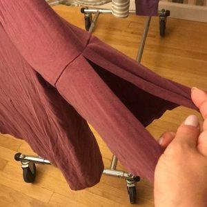 LOFT Tops - Loft women blouse short sleeve w slits on sleeve.